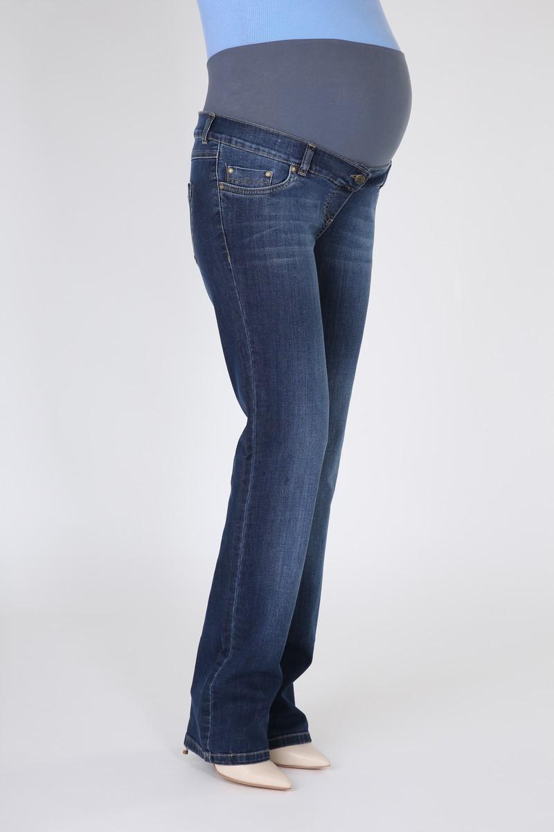 Фото джинсы для беременных MAMA`S FANTASY, regular, широкий бандаж от магазина СкороМама, синий, размеры.