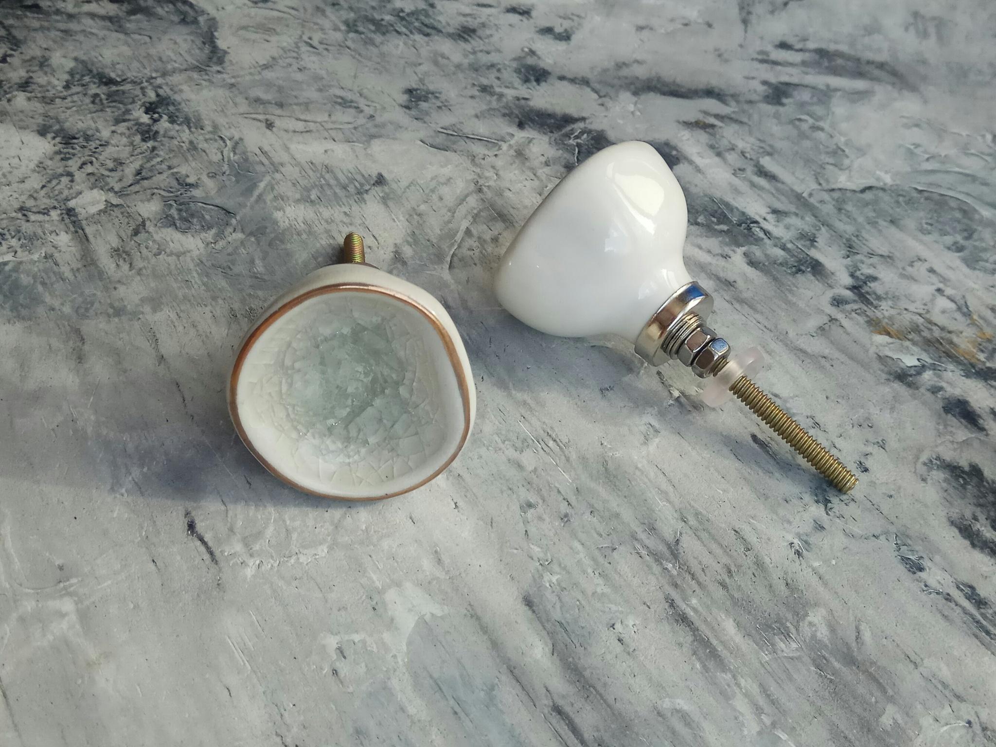 Ручка мебельная керамическая