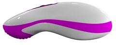 Бело-розовый вибростимулятор Mouse
