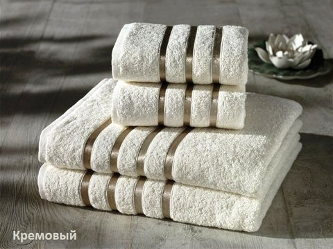 Комплект махровых полотенец КАРНА, кремовый
