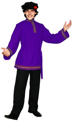 Фиолетовая косоворотка
