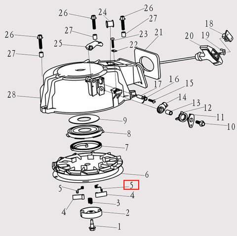 Пружина стопора-упора для лодочного мотора F9.8 Sea-PRO (8-5)