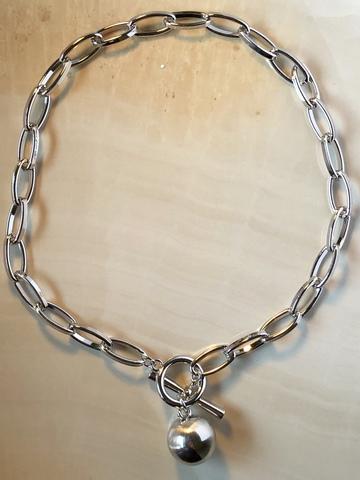 Колье Муара, серебряный цвет