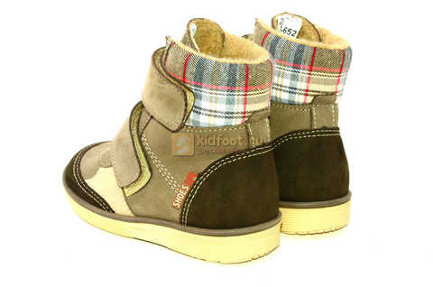 Ботинки для мальчиков Лель (LEL) на байке из натуральной кожи цвет коричневый. Изображение 7 из 14.