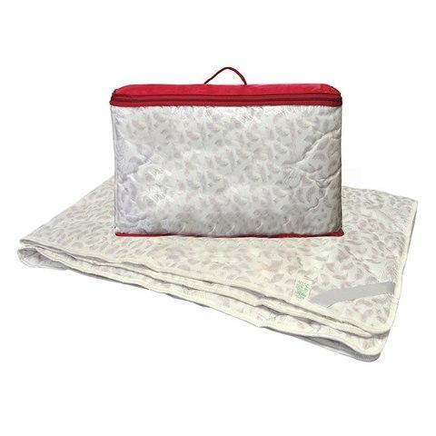 Одеяло лебяжий пух 1,5-сп. с чехлом из поплина