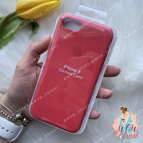 Чехол iPhone 7/8 Silicone Case /red raspberry/ ягодный original quality