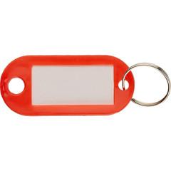 Бирки для ключей пластиковые красные (10 штук в упаковке)