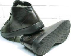 Мужские ботинки на толстой подошве кеды демисезонные мужские Ikoc 1770-5 B-Brown.