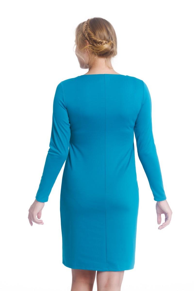 Платье для беременных и кормящих 07984 голубой
