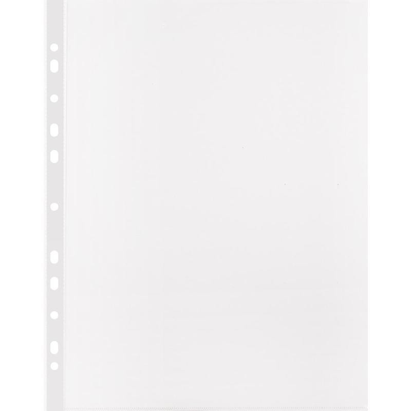 Файл-вкладыш Attache Стандарт А4 30 мкм прозрачный рифленый 100 штук в упаковке