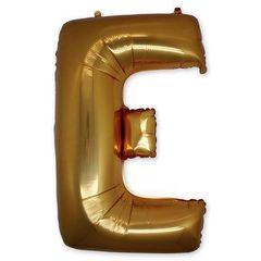 """Буква """"E"""" золото 102 см"""