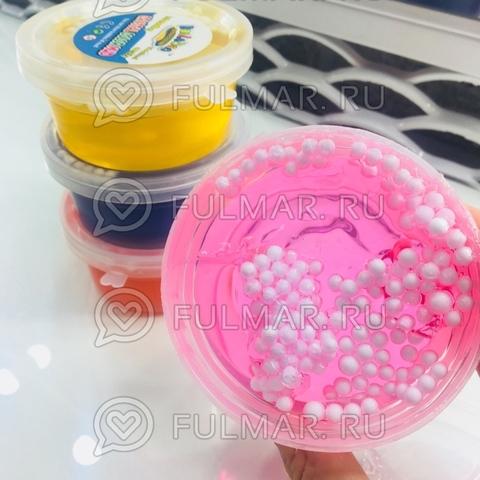 Набор Слаймы жвачка для рук с шариками внутри 2 штуки