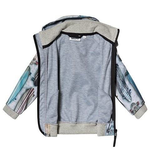 Molo весна куртка - ветровка Cloudy для мальчика soft shell  Striped Long Boards