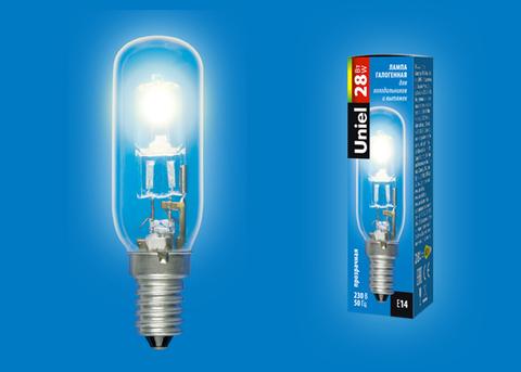 HCL-28/CL/E14/F25 special Лампа галогенная для холодильников и вытяжки. Прозрачная. Картон. ТМ Uniel.