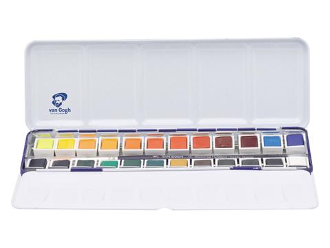 Набор акварельных красок Royal Talens Van Gogh National Gallery, 24 цвета, металлический короб
