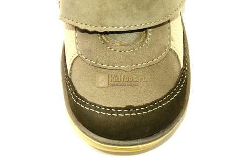 Ботинки для мальчиков Лель (LEL) на байке из натуральной кожи цвет коричневый. Изображение 12 из 14.