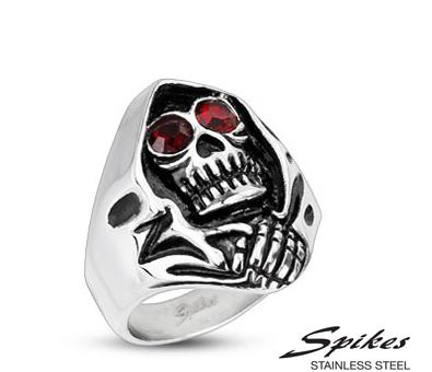 R-H2178 Мужское кольцо «Смертушка» из стали («Spikes»)