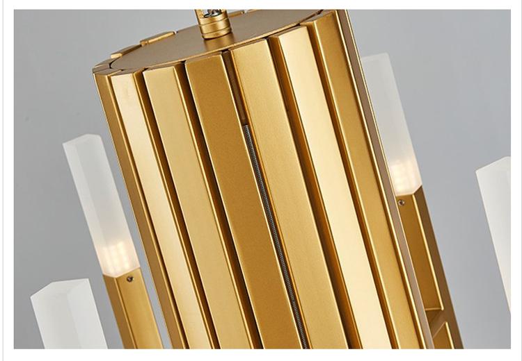 Подвесной светильник копия THE LIGHT by Alma 12 плафонов (золотой)