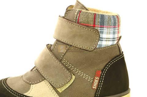 Ботинки для мальчиков Лель (LEL) на байке из натуральной кожи цвет коричневый. Изображение 13 из 14.