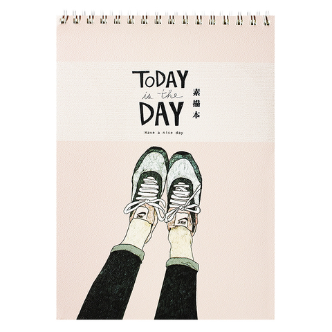 Скетчбук Today is day (pink)