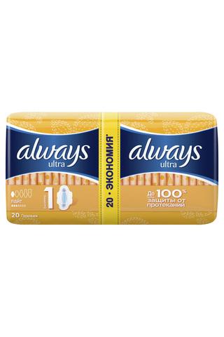 """Прокладки """"Always"""" Ultra лайт 20шт"""
