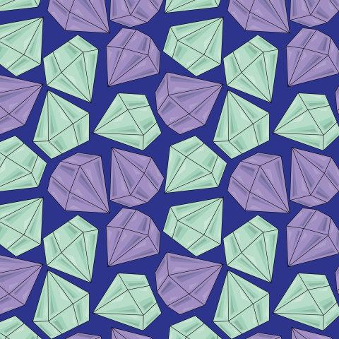 Алмазы на синем фоне