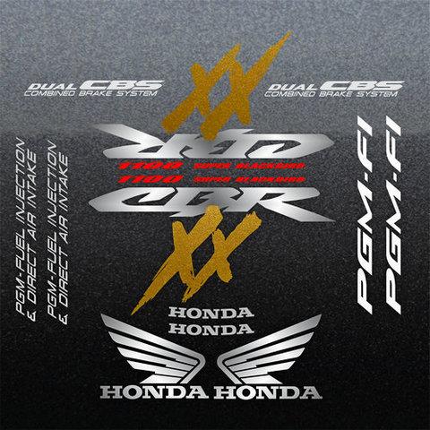 Набор виниловых наклеек на мотоцикл HONDA CBR 1100XX 2002