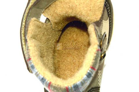 Ботинки для мальчиков Лель (LEL) на байке из натуральной кожи цвет коричневый. Изображение 14 из 14.