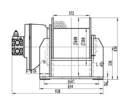 Лебедка свободного сброса IYJ4-50-97-20-L-ZPH3