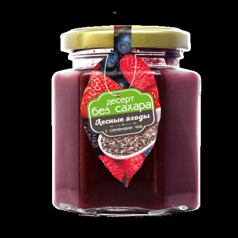 Десерт без сахара: лесные ягодки с семенами чиа