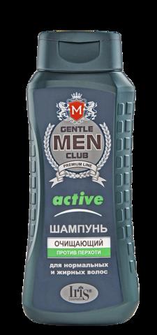 Iris Gentlemen club Шампунь Active очищающий против перхоти 400мл