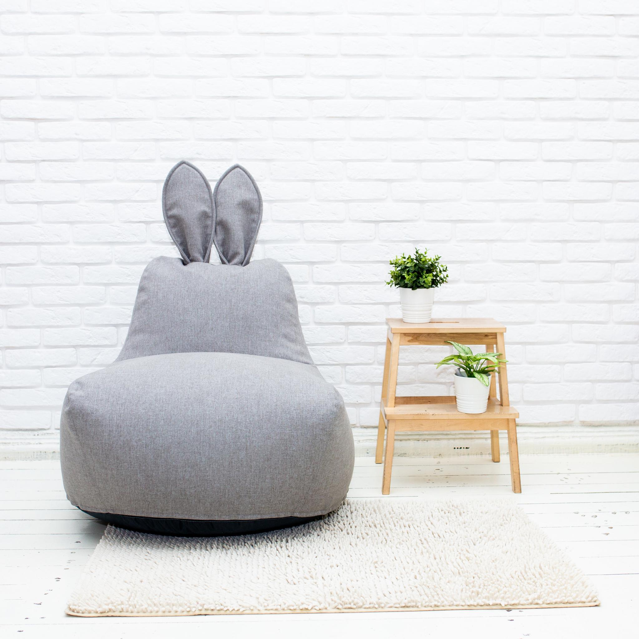 Кролик M тканевый (светло-серый)