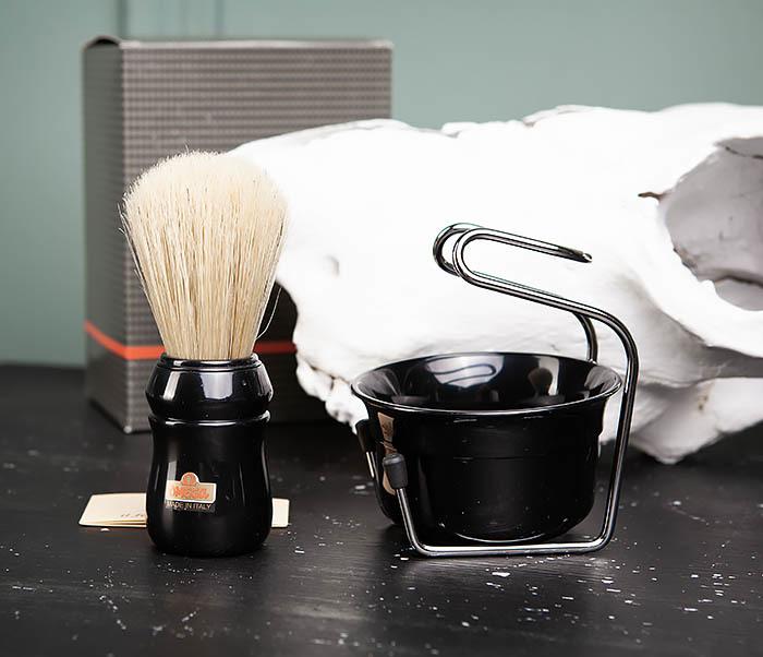 RAZ410-1 Набор для бритья из помазка, чаши и подставки фото 03