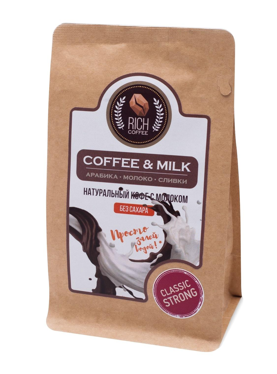 Натуральный молотый кофе Rich Coffee & Milk coffee / СТРОНГ, 200 г