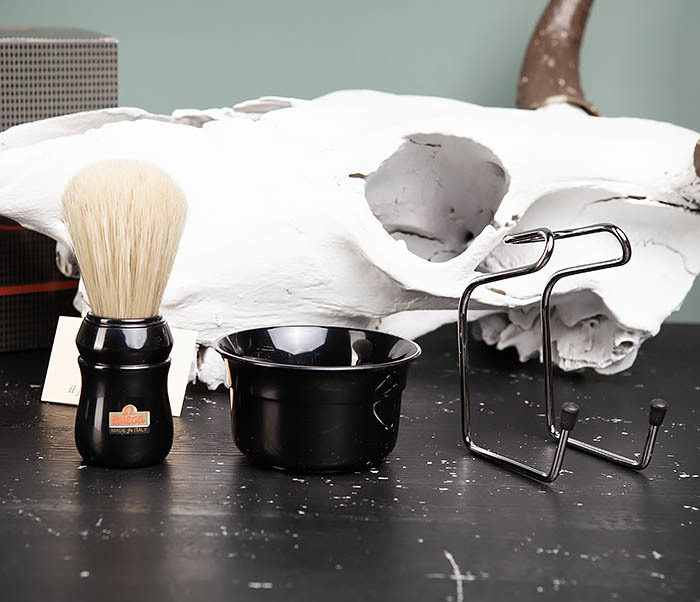 RAZ410-1 Набор для бритья из помазка, чаши и подставки фото 04