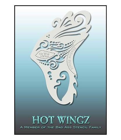 Трафарет Hot wings 8006