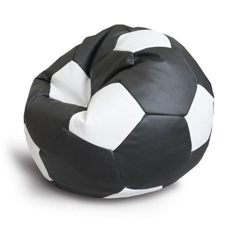 Кресло-мешок «Мяч» Черно-белый ЭКОКОЖА