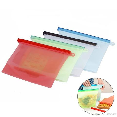 Многоразовый вакуумный  силиконовый  пакет для пищевых продуктов (1500 мл)