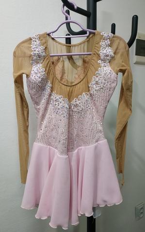 Платье для выступлений Б/У 13-14 лет 158 светло-розовое