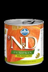Фармина Pumpkin N&D 285 гр консервы для собак кабан с тыквой и яблоком