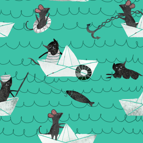 cats mouse boat
