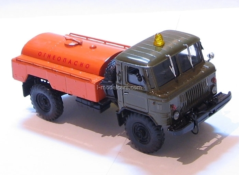 GAZ-66 tanker Flammablly khaki-orange Agat Mossar Tantal 1:43
