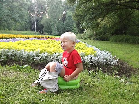 Надувной горшок Baby-Krug, зеленый