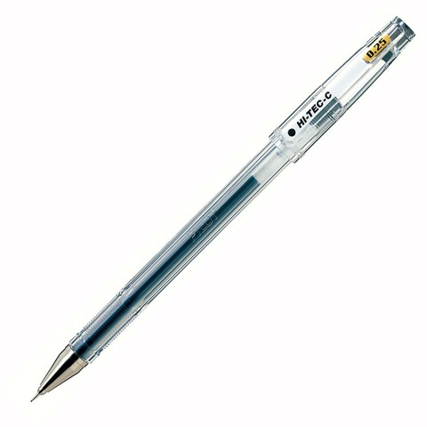 Ручка гелевая 0,25 мм Pilot Hi-Tec-C чёрная