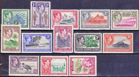 British Solomon Islands 1939 №60-72 *MH