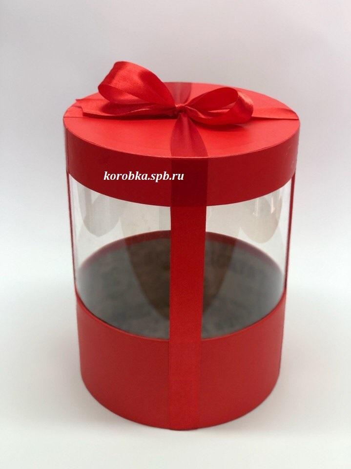 Коробка аквариум 22,5 см Цвет :Красный  . Розница 400 рублей .