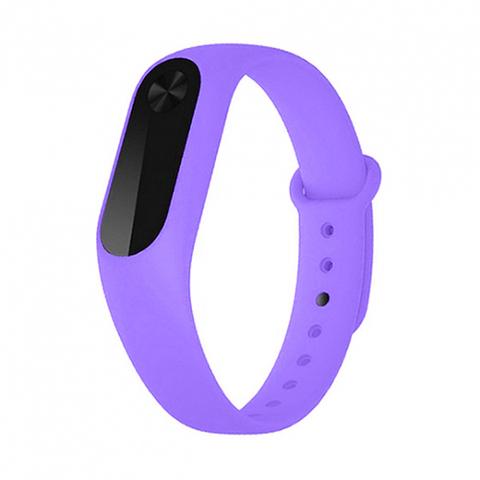 Силиконовый ремешок для Xiaomi Mi Band 2 (фиолетовый)