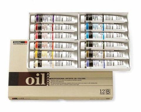 Набор масляных красок ShinHanart OIL COLOR PRO (B) 12 цветов, 50 мл