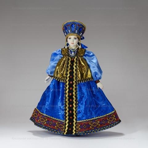 Интерьерная кукла в русском праздничном костюме