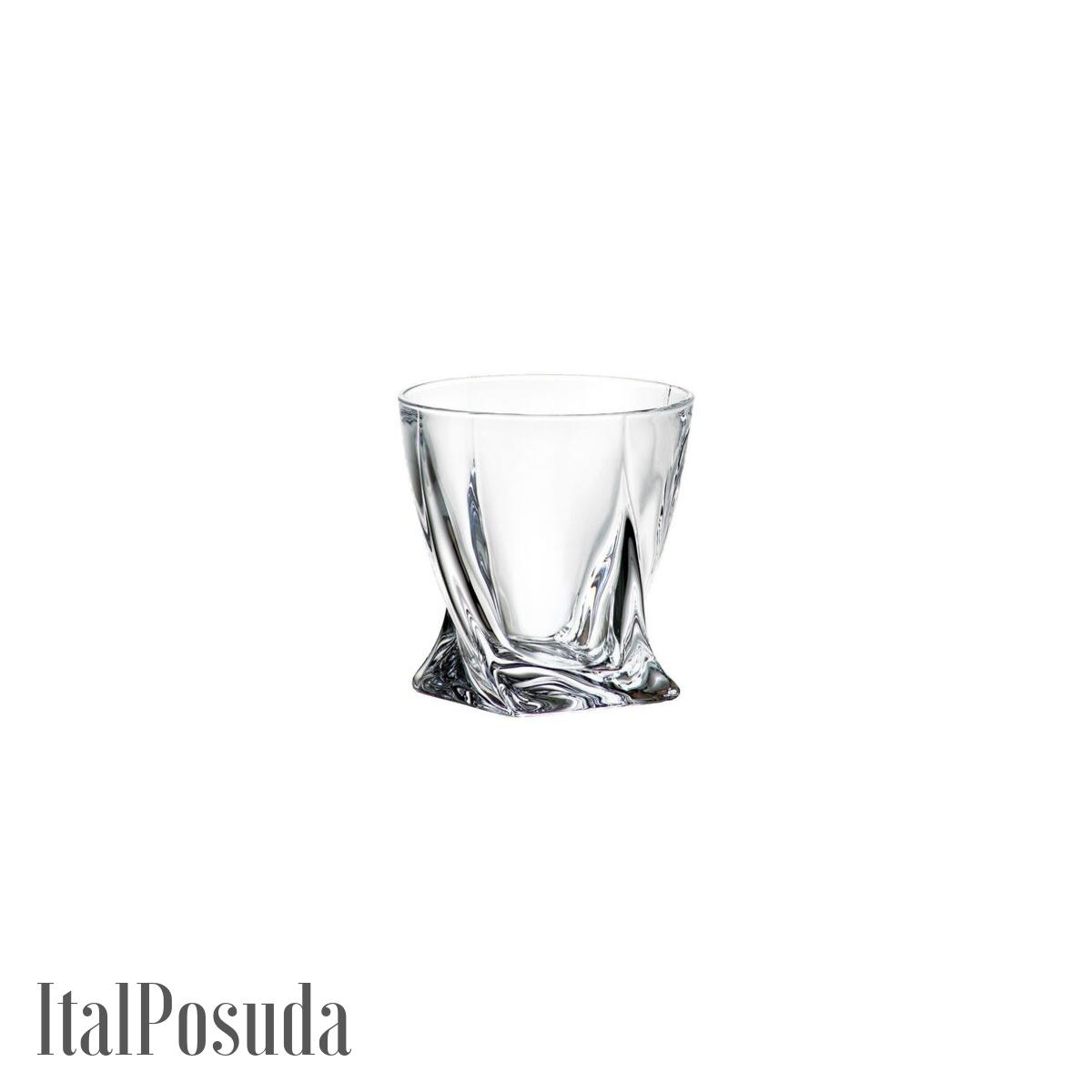 Набор стаканов для виски Bohemia Quadro (Квадро), 6шт BOHEMIA11312